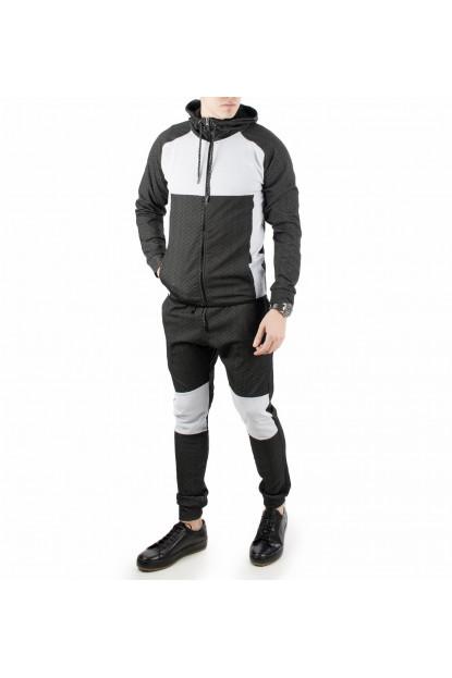 DeepSEA Çift Renkli Yeni Sezon Kapşonlu Erkek Eşofman Takımı 1870239