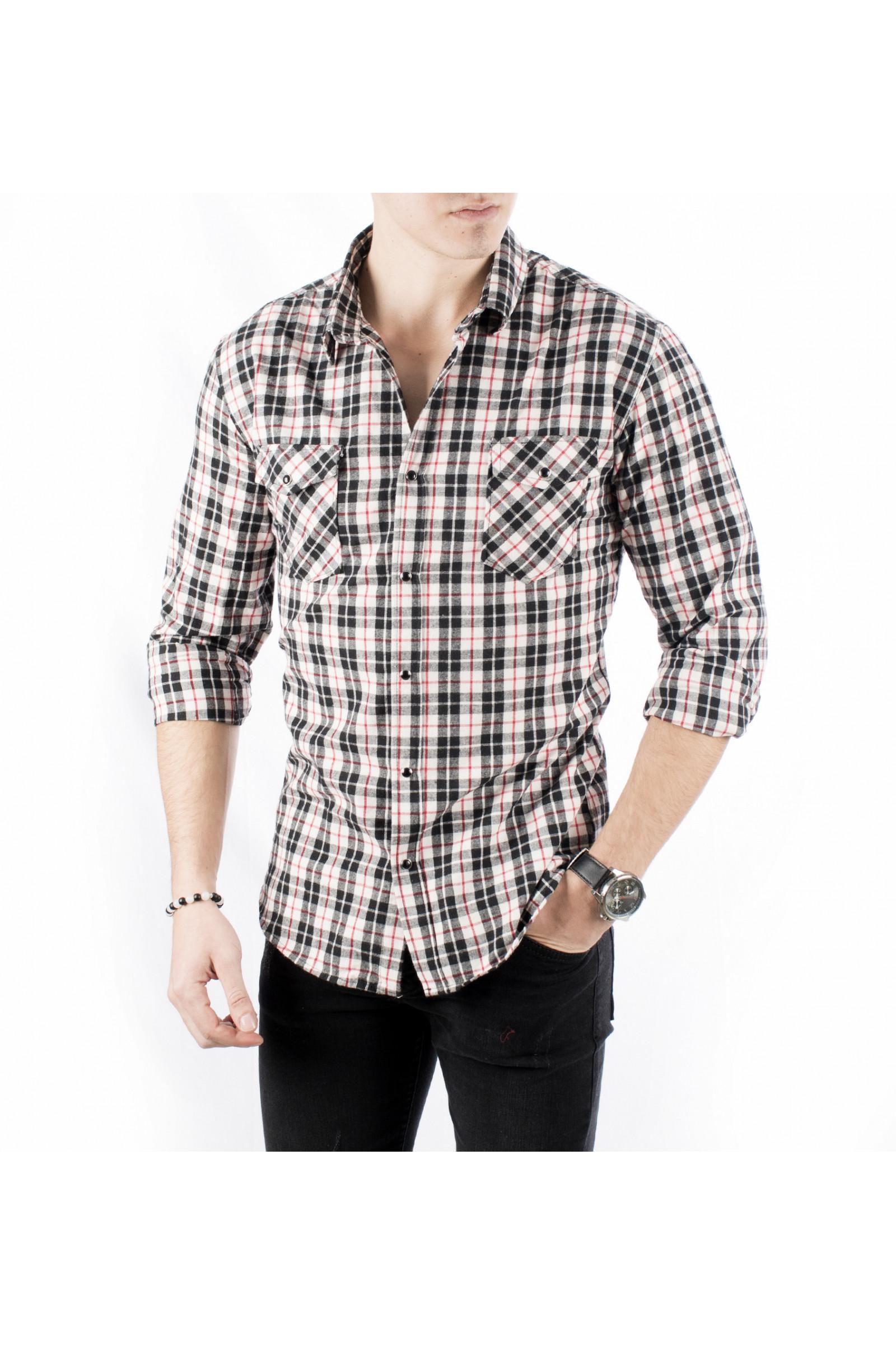 71674ef0bba DeepSEA Italian Cut Pockets Covered Gabardine Men s Shirt 1801844