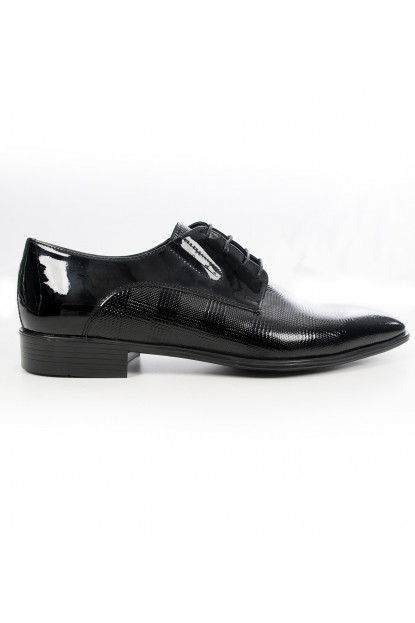 Classic Rugan Leather Men's Shoes with DeepSEA Laser Embroidered Burn Pattern 1801031