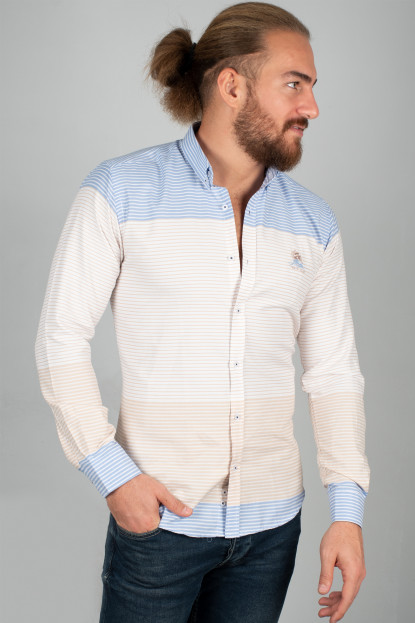 DeepSEA Çift Renk Uzun Kol Erkek Gömlek 2005105