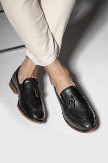Paolo Massi Yanları Lastikli Püsküllü Deri Ayakkabı 2001805
