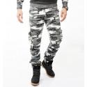 DeepSEA Yıkamalı Dar Kesim Askeri Erkek Kamuflaj Pantolon 1601194