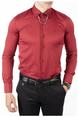 DeepSEA İtalyan Kesim Kol Düğmeli Likralı Pamuk Saten Erkek Gömlek 1809016