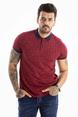 DeepSEA Kırcıl Desen Polo Yaka Kısa Kol Erkek Tişört 2101003