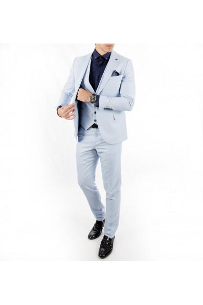 DeepSEA Kumaşı Desenli Tek Düğme Çift Yırtmaçlı Erkek Takım Elbise 1810669