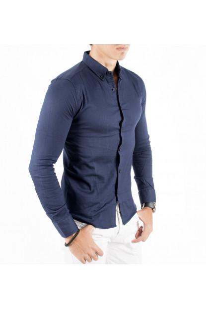 926c57989f7 DeepSEA Flower Patterned Lycra Slimfit New Season Long Sleeve Men s Shirt  1804007